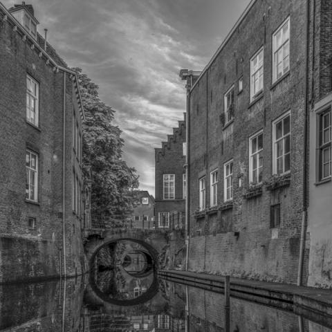 Binnendieze gezien vanaf Herman Moerkerkplein
